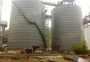 Large cement steel storehouse